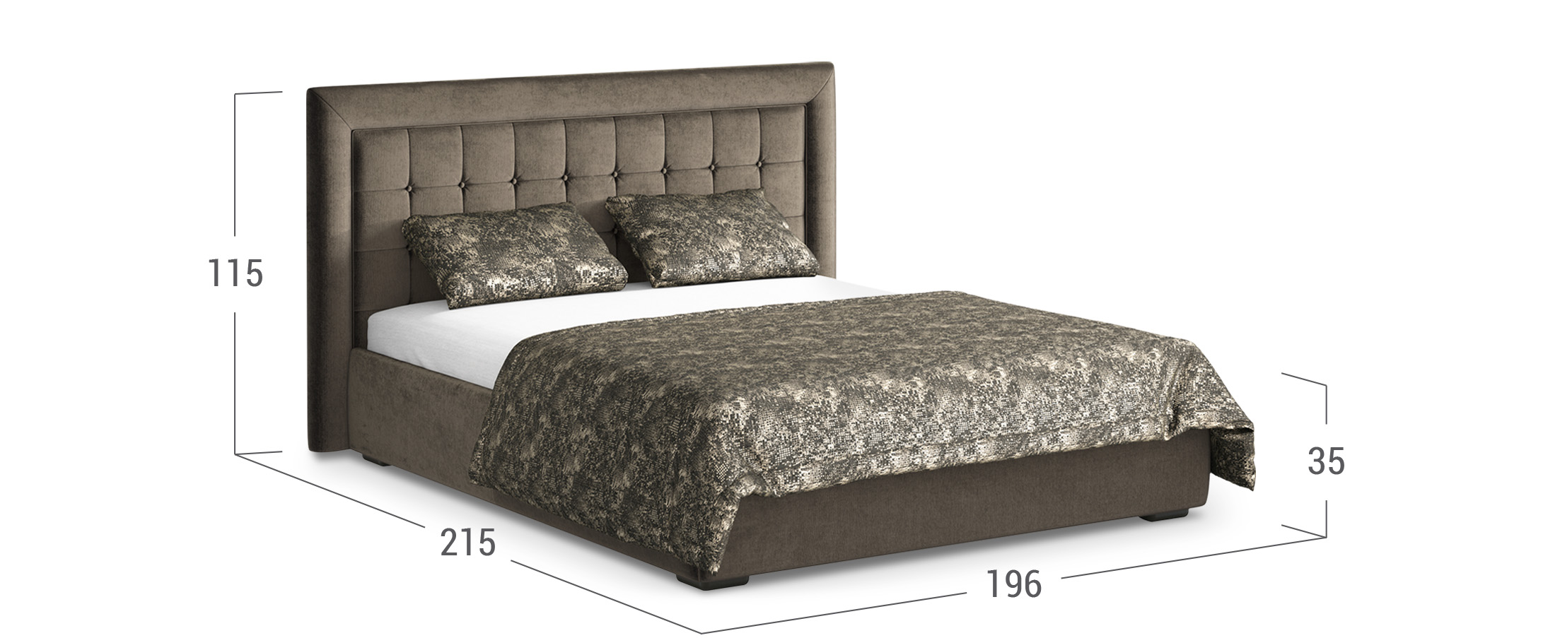 Кровать двуспальная MOON 1002а